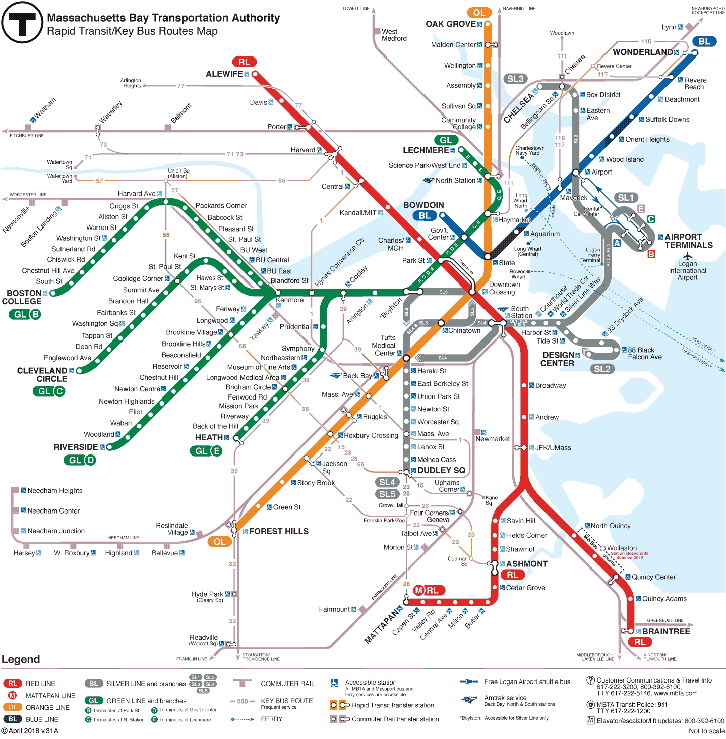 subway schedules maps mbta