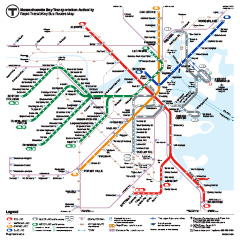 photo about Printable Map of Boston named Subway Schedules Maps MBTA