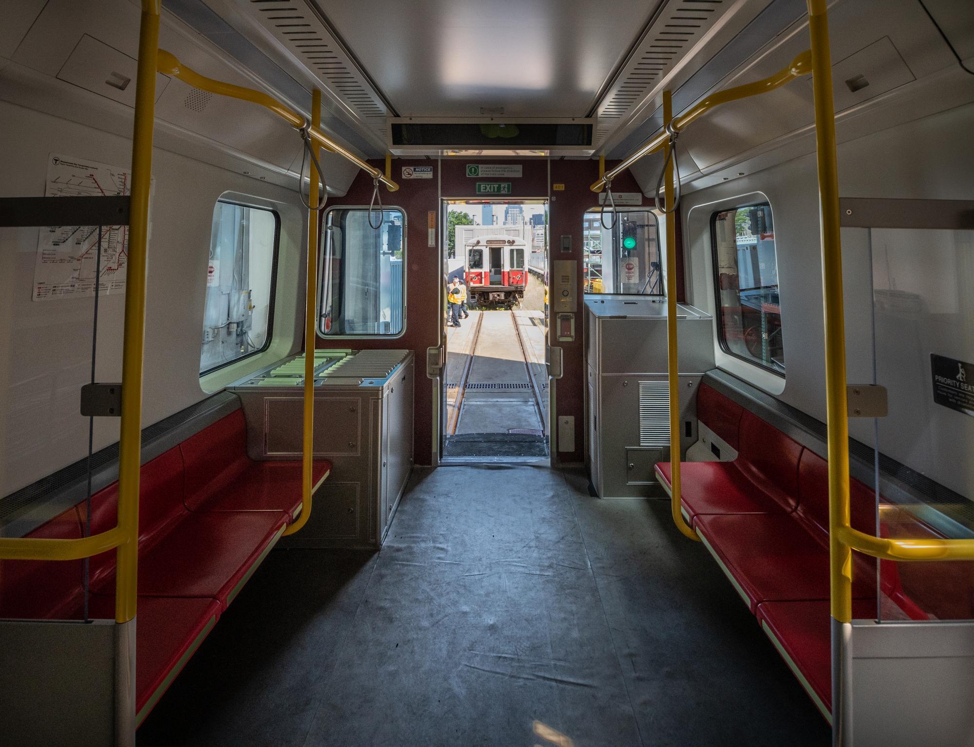 Red Line mock-up car interior