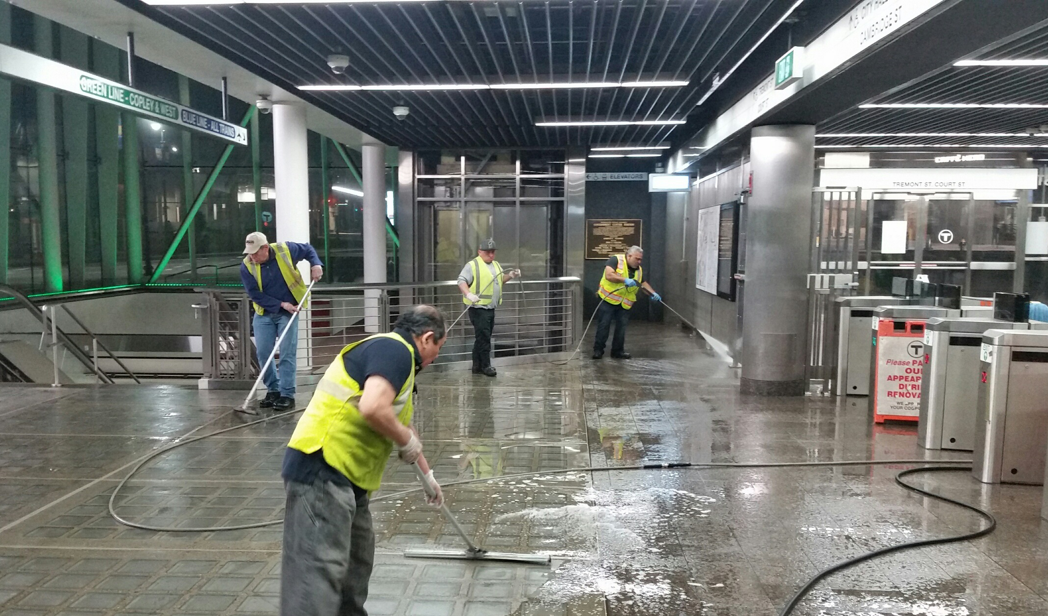 Work underway at Government Center