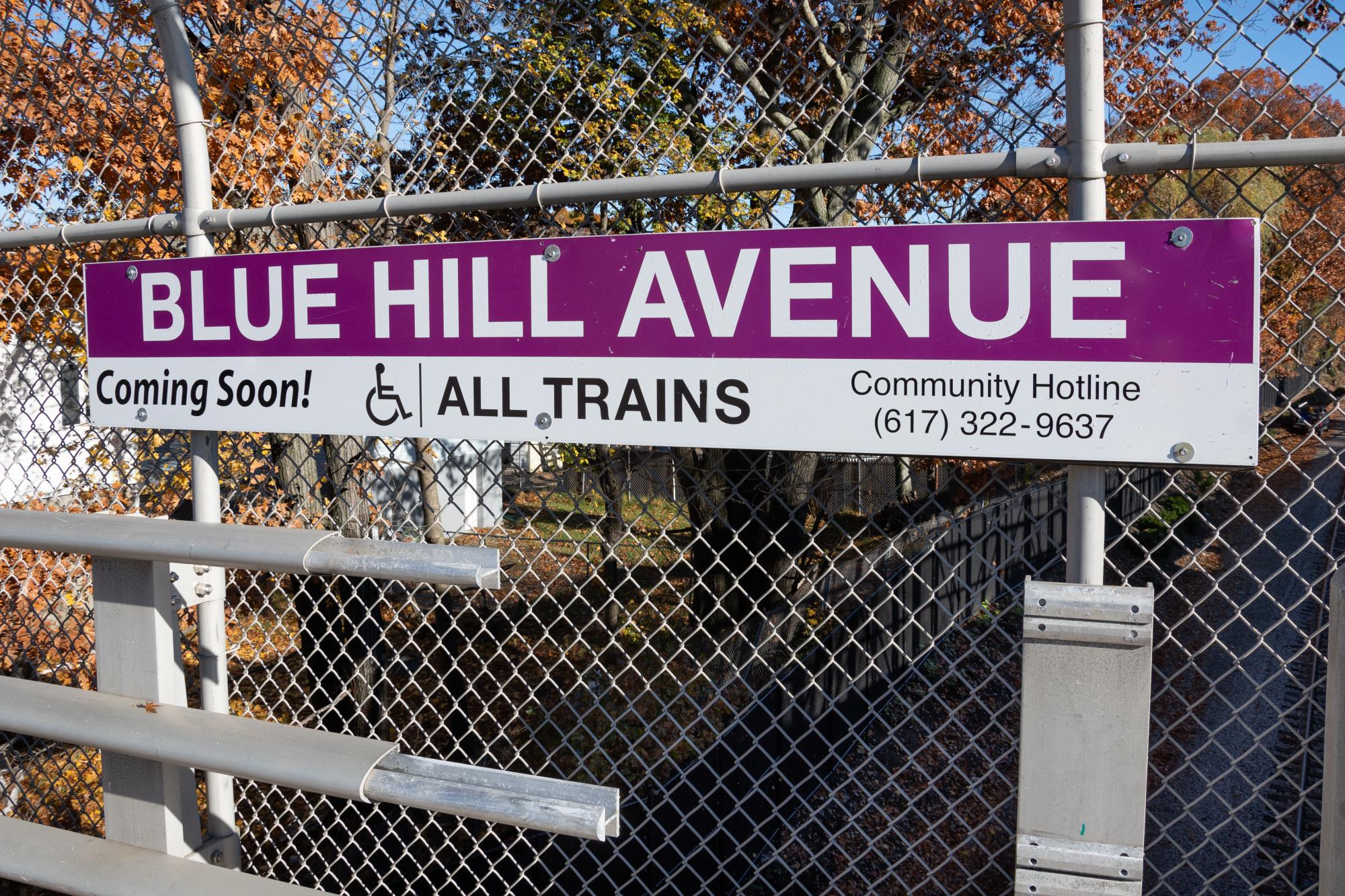 Commuter Rail sign