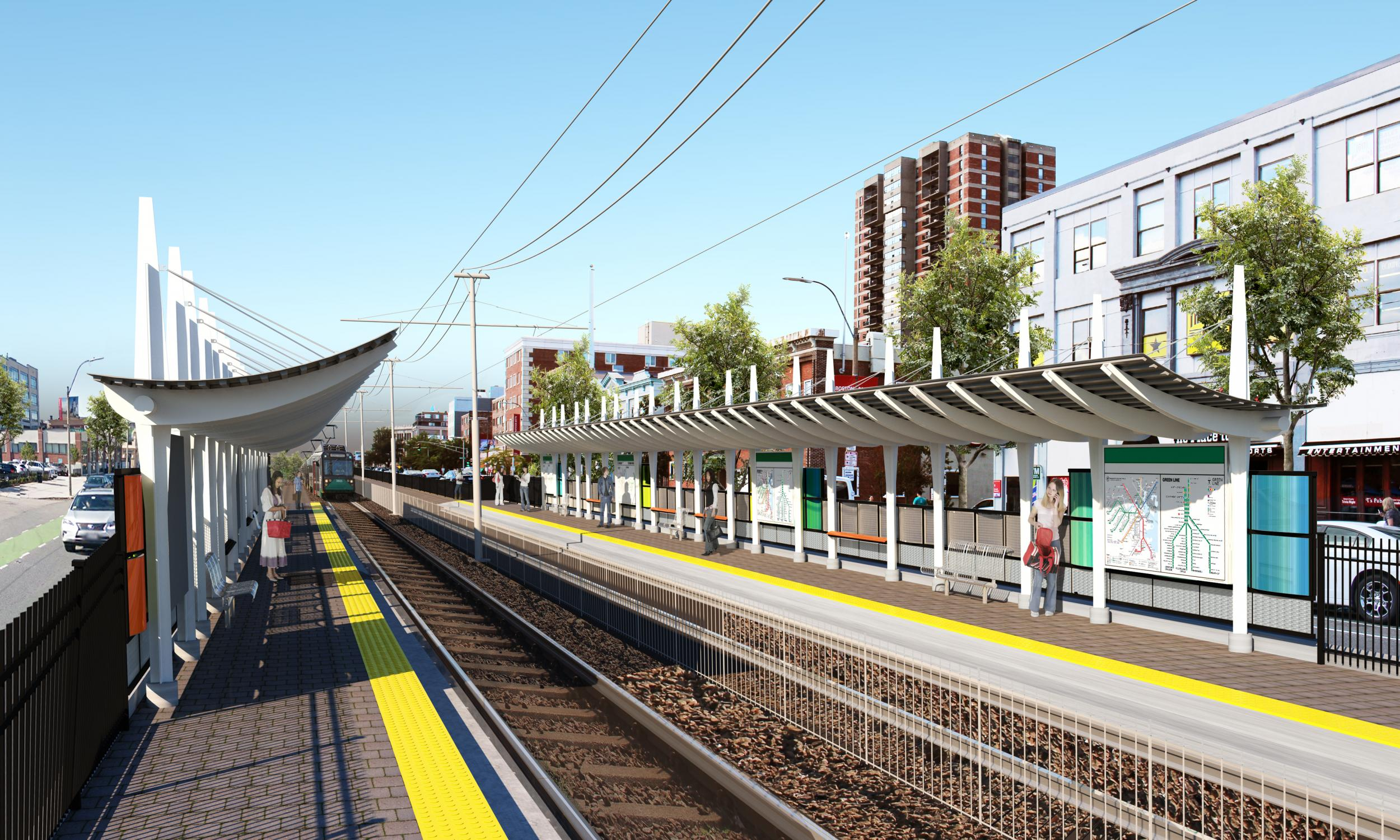Rendering of the proposed Boston University stop