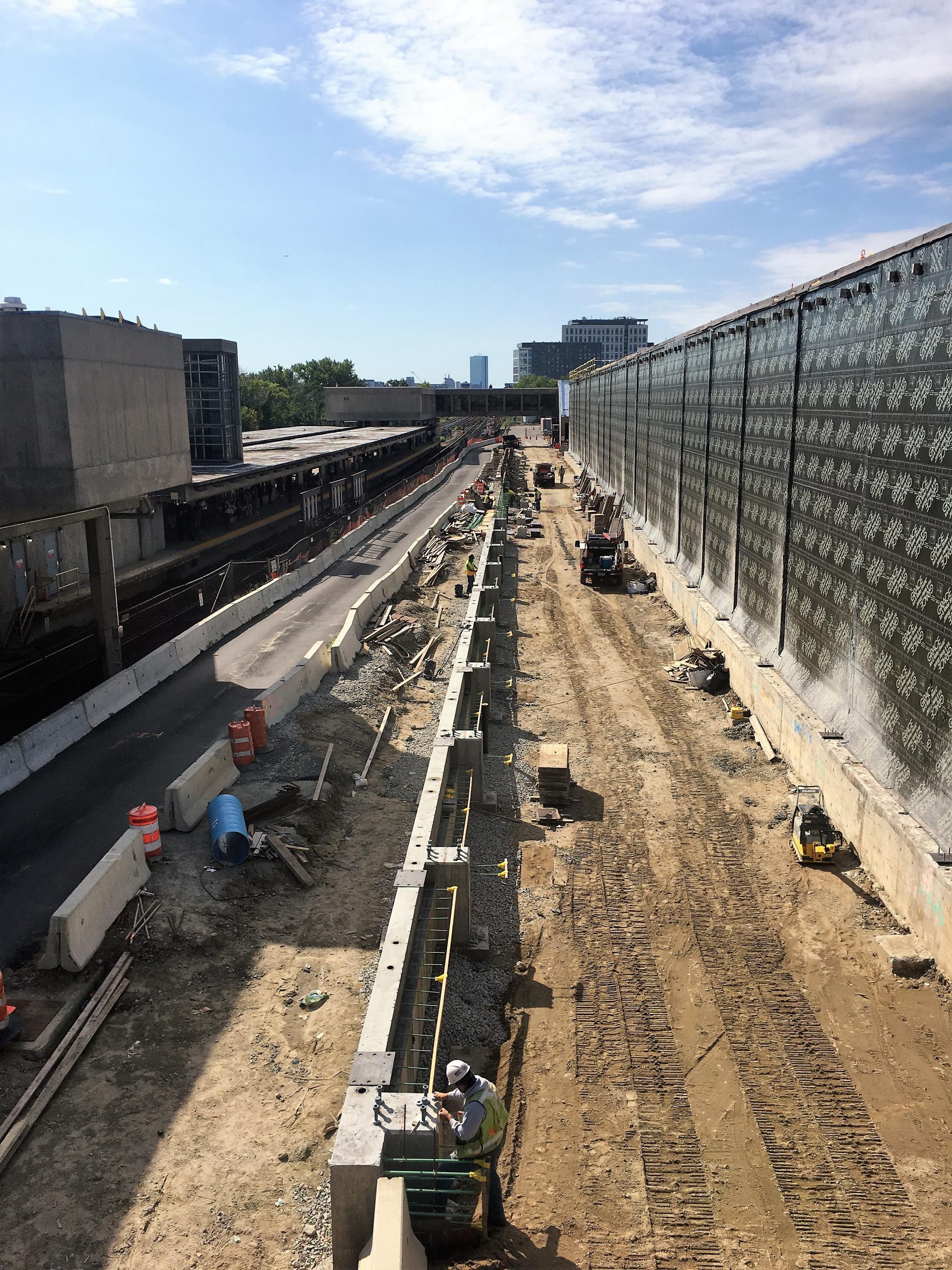 Wellington Maintenance Facility: Exterior expansion grade beams (September 2018)