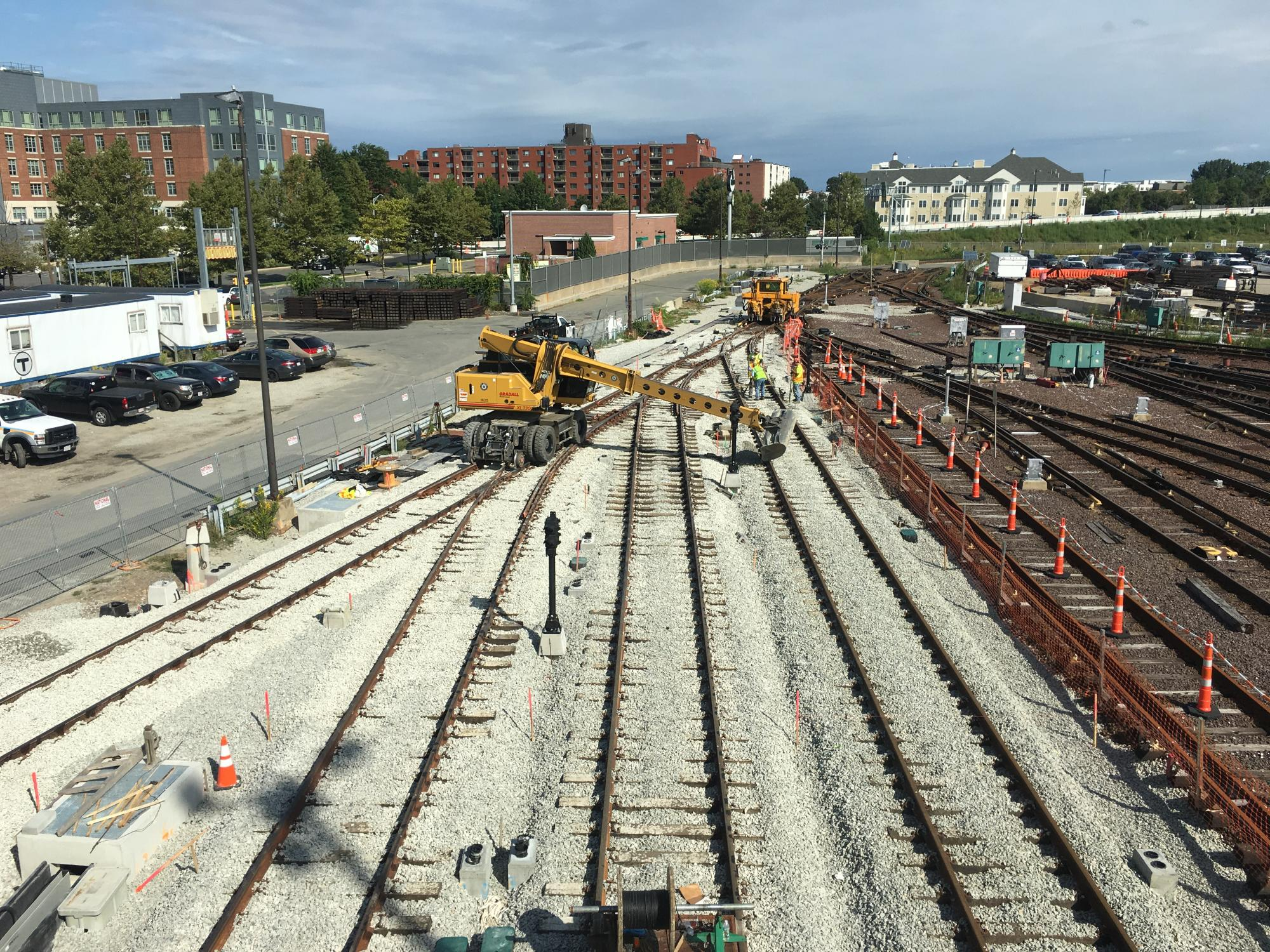 Wellington Yard expansion tracks 33 to 38: Installation of new turnouts, track, and ballast (September 2018)