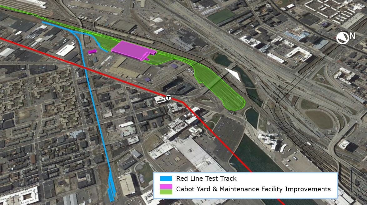 Map of Cabot Yard and Cabot Maintenance Facility improvements
