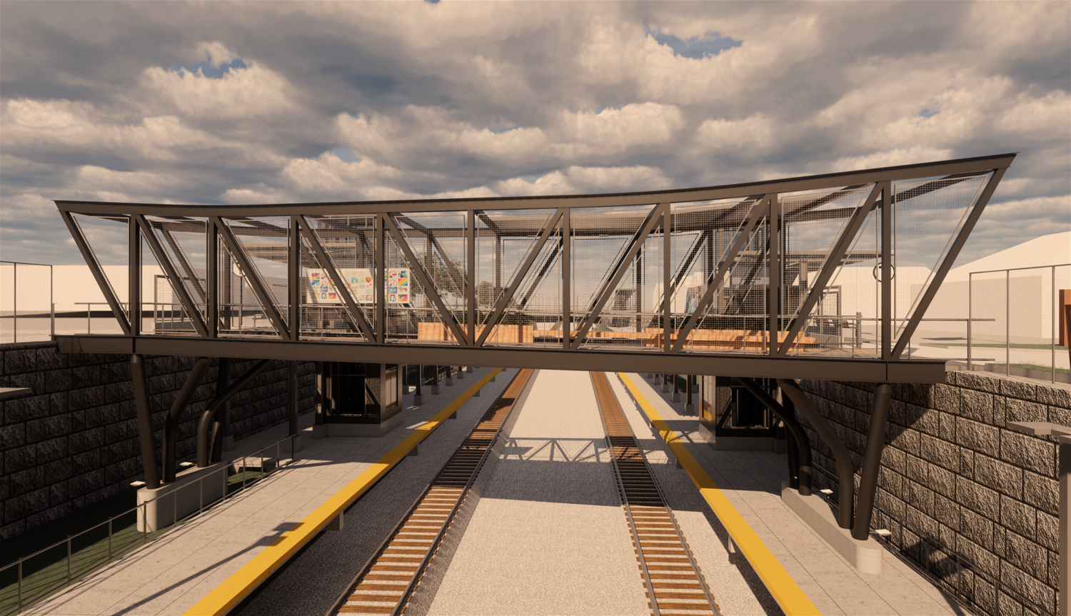 Rendering of the pedestrian bridge