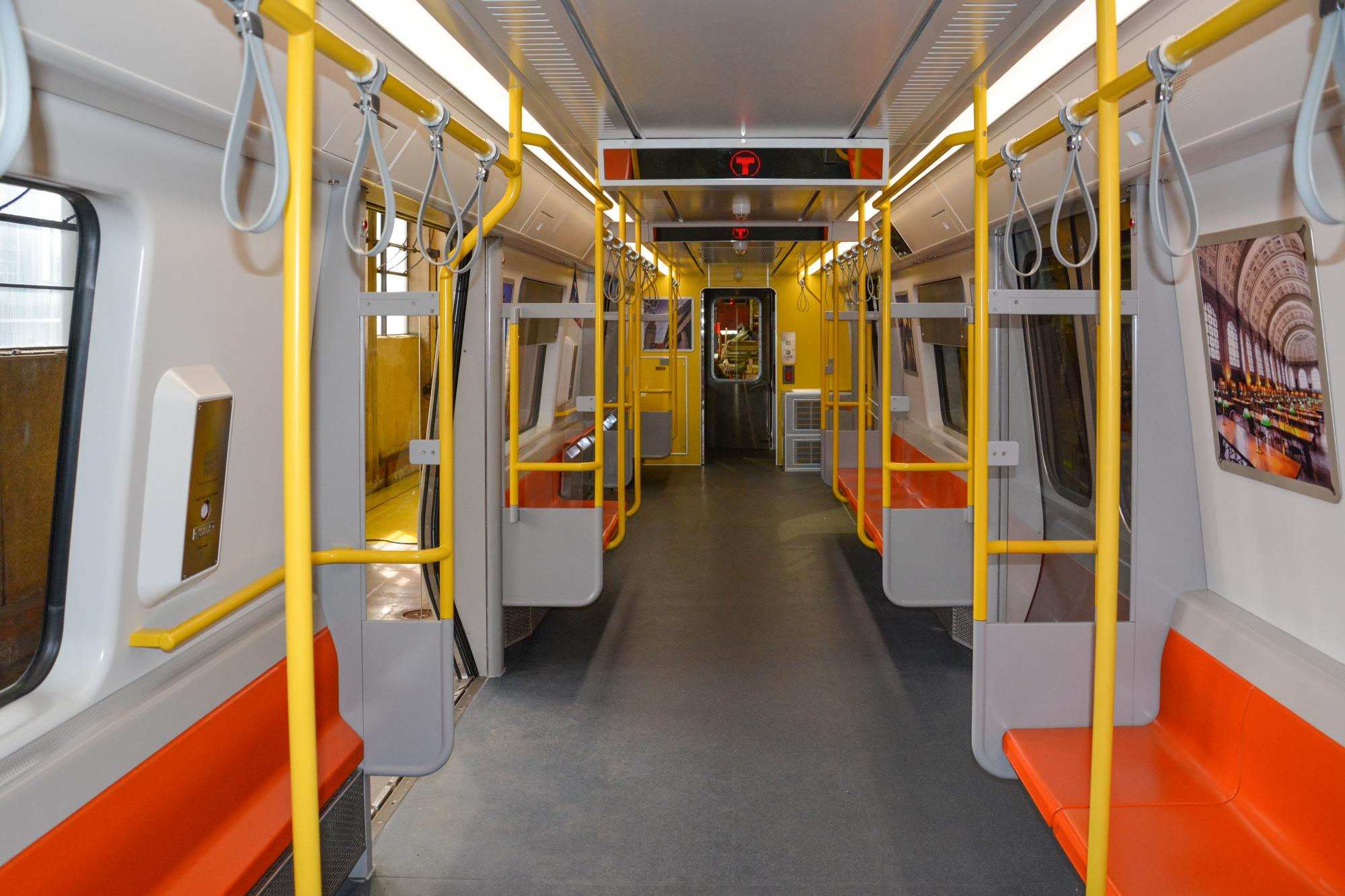 Interior of Orange Line pilot car