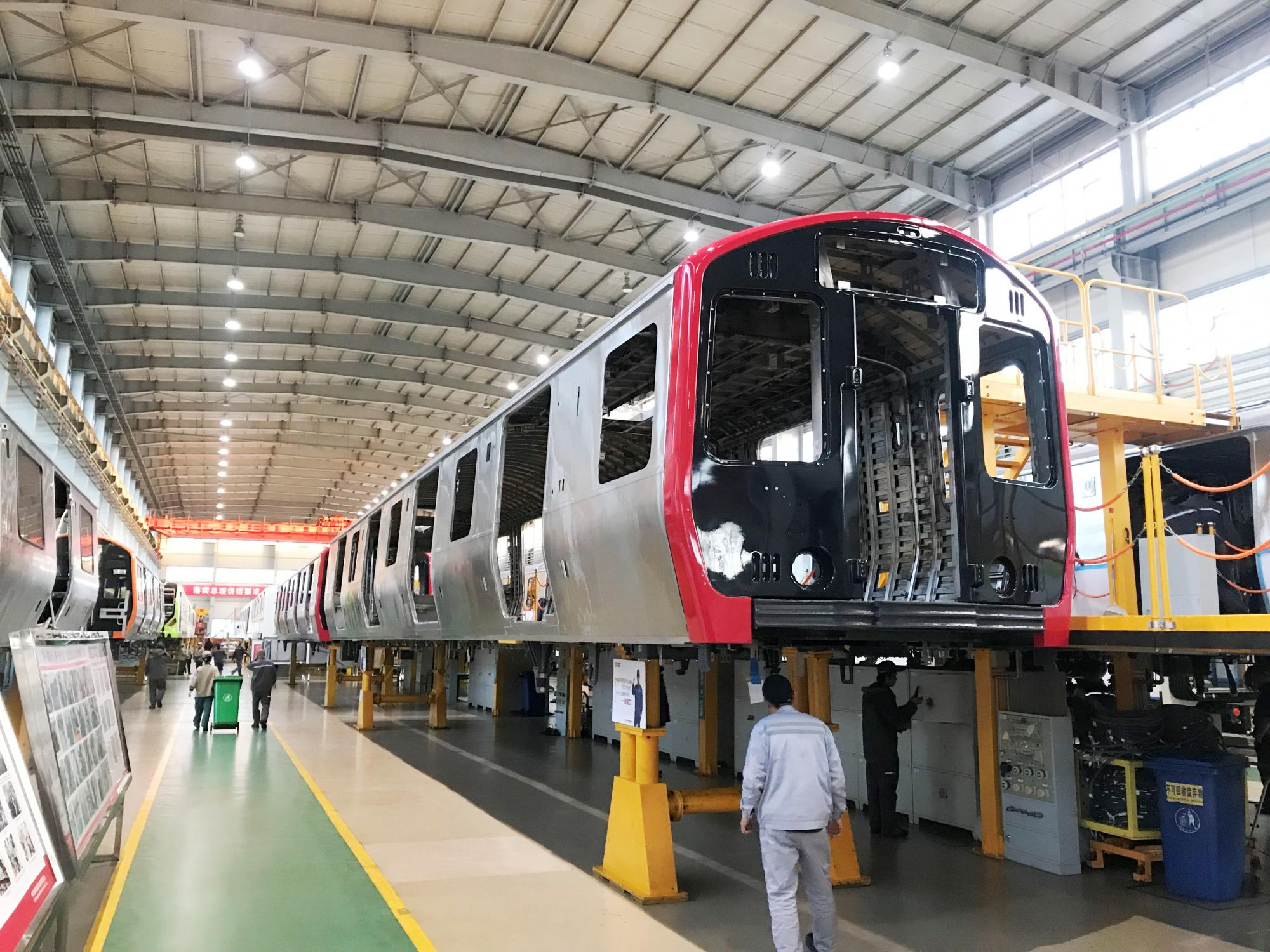 Red Line pilot car manufacturing in Changchun, China