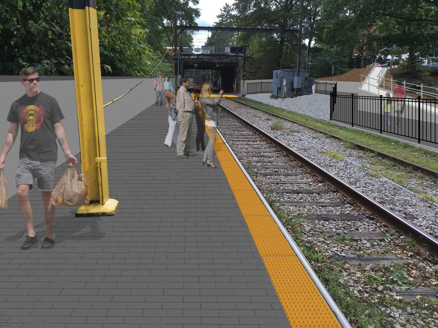 Rendering of new level boarding platform with tactile edge