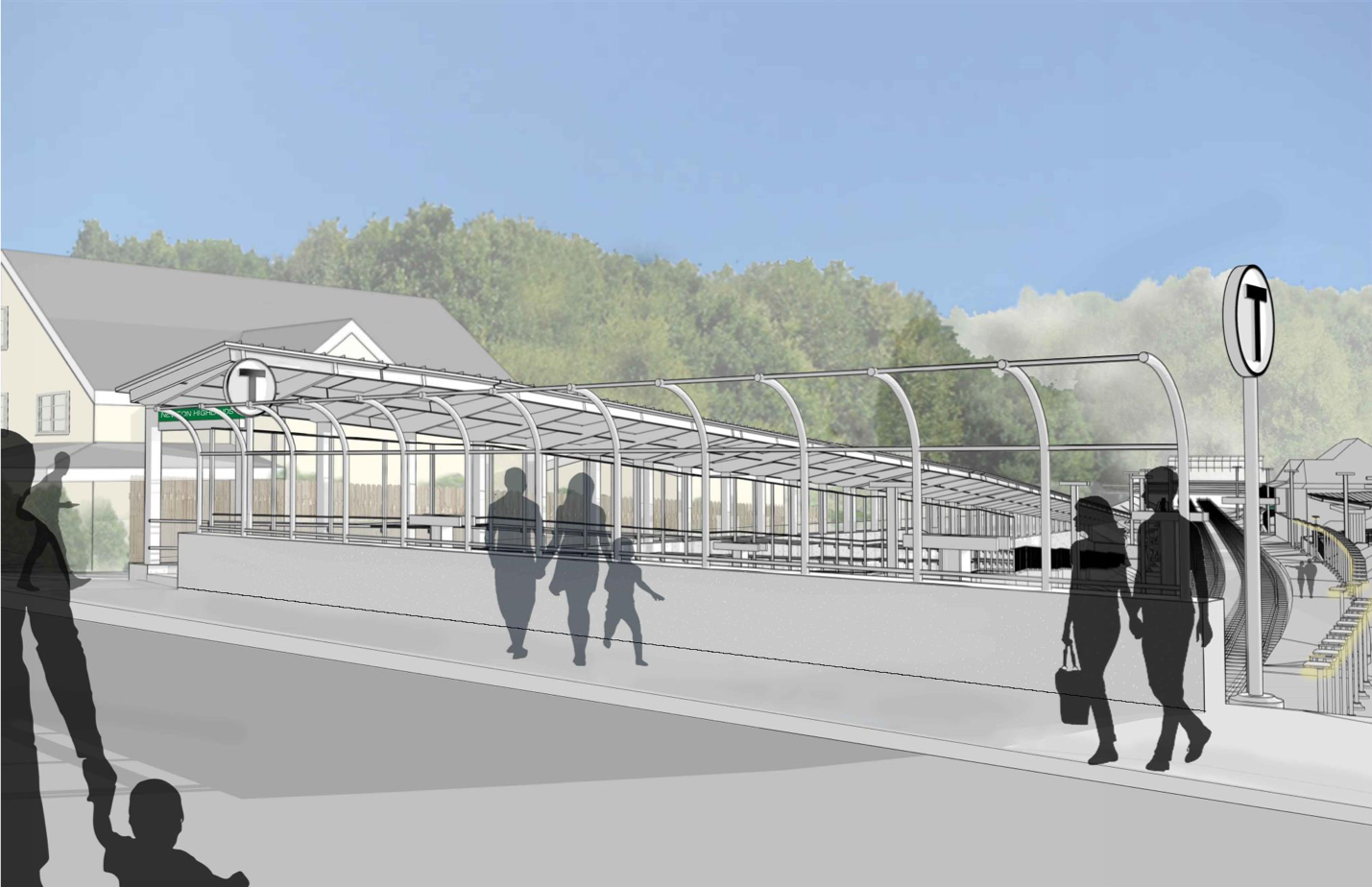 Rendering of Hyde Street entrance with a new ramp with canopy