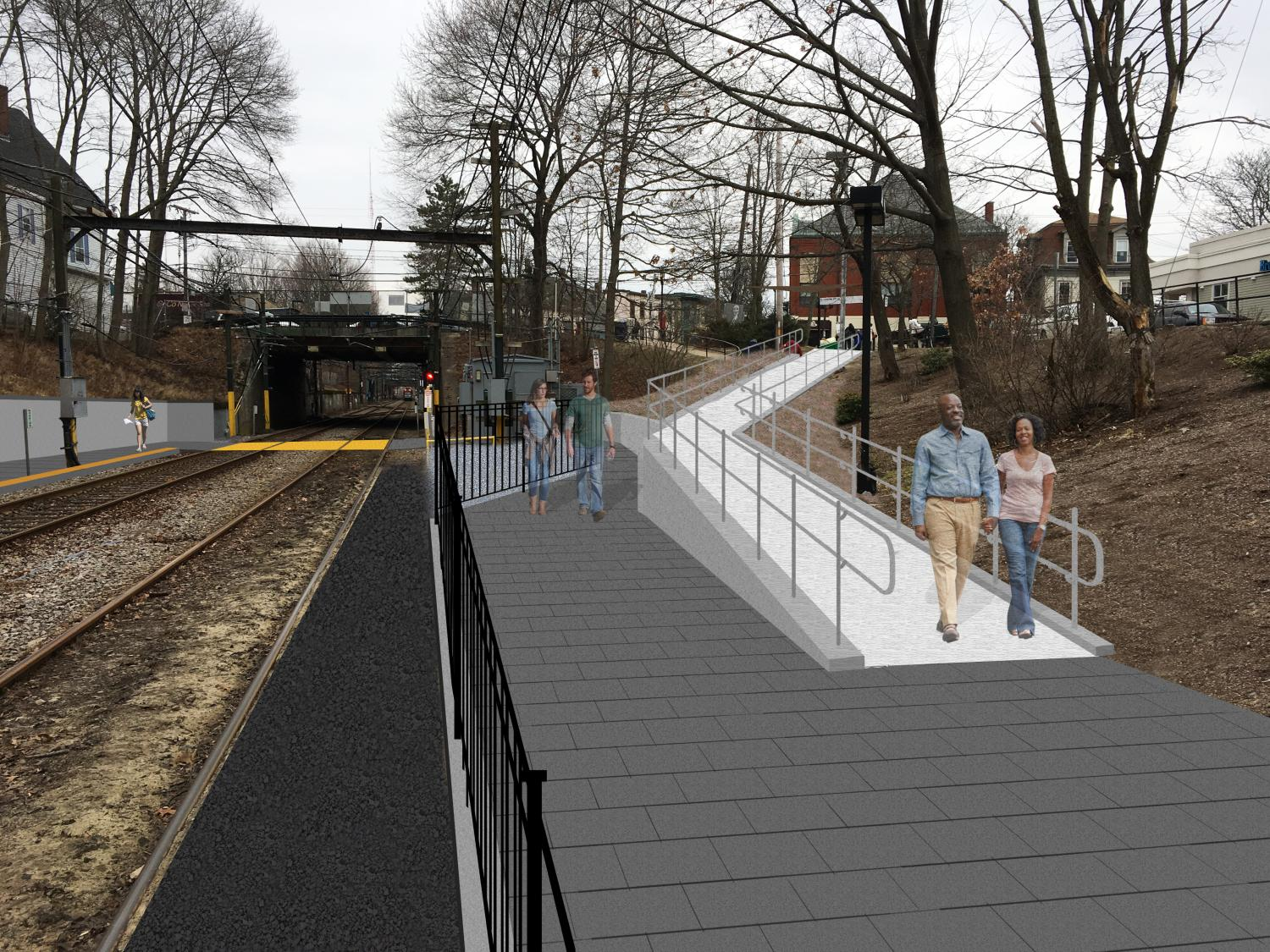 Rendering of a new ramp from Walnut Street