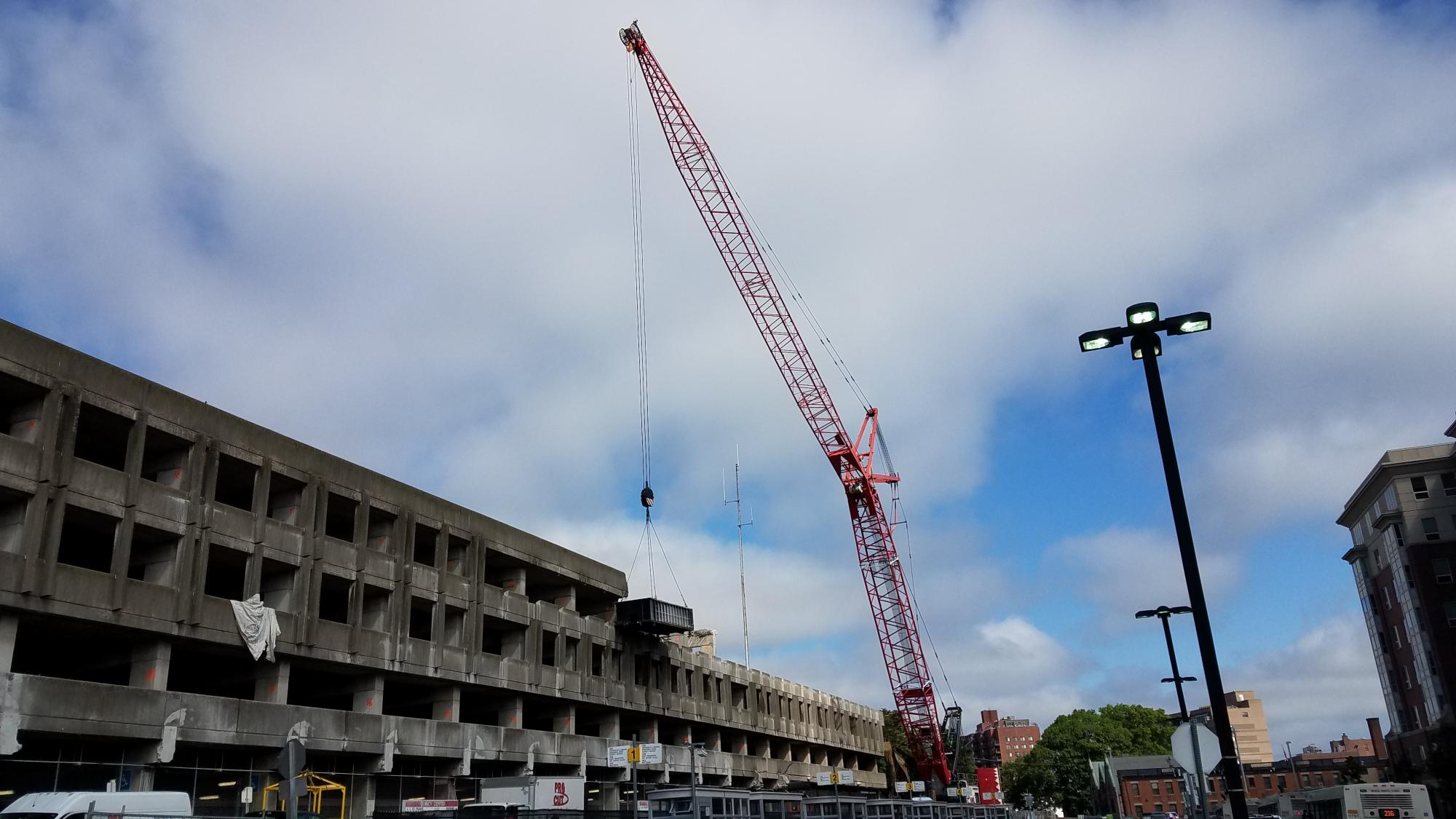 Demolition of Quincy Center Garage