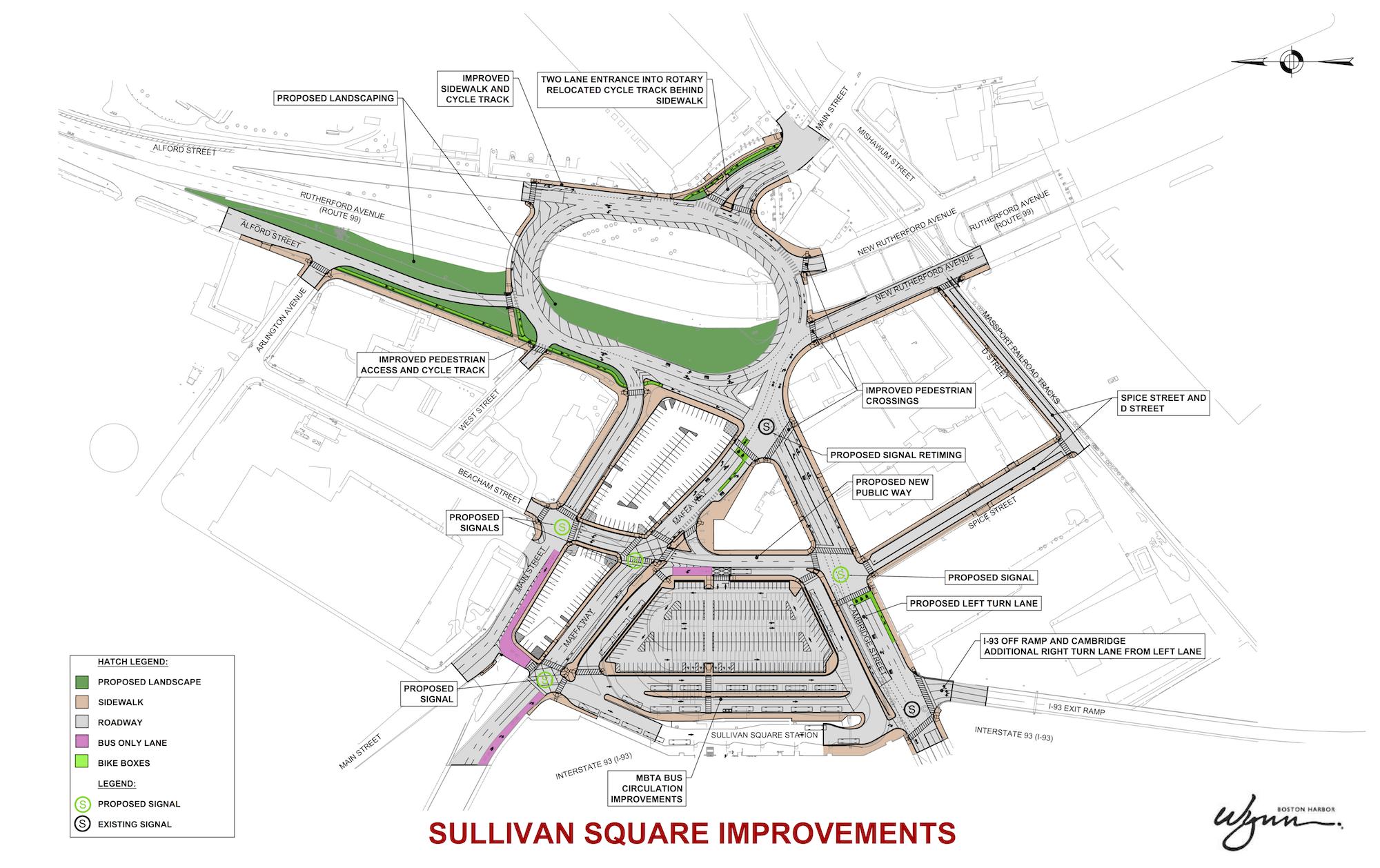 Graphic representation of the proposed improvements to Sullivan Square