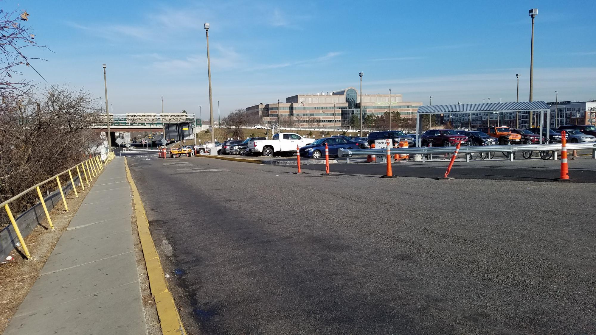 The sidewalk bordering the front parking lot will be replaced in February/March 2019.