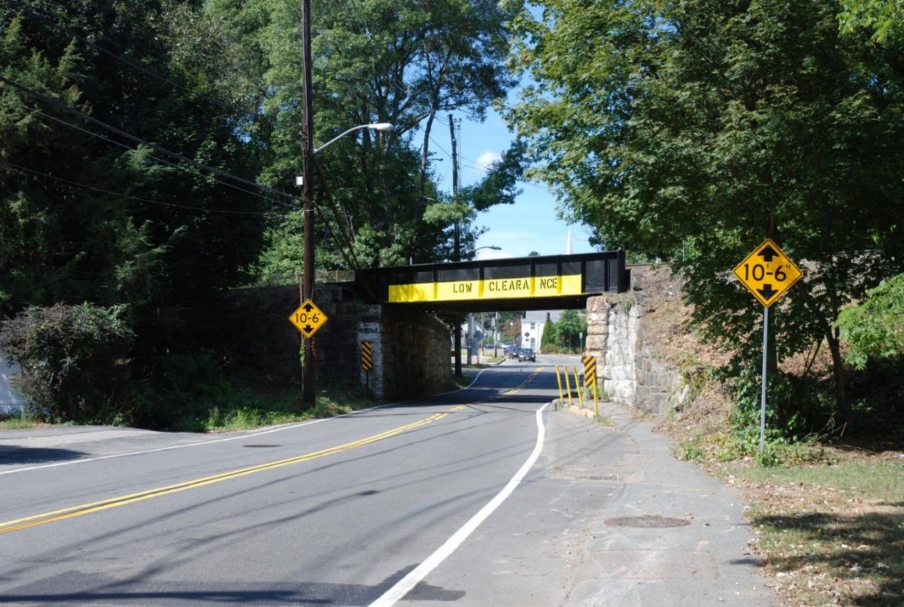 East Street Bridge in Westwood, pre-construction