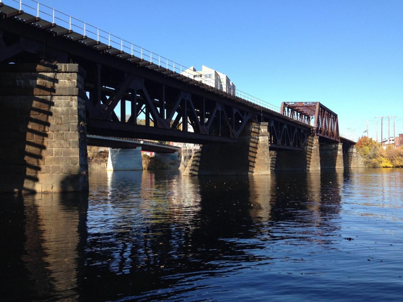 Merrimack River Bridge, viewed from below