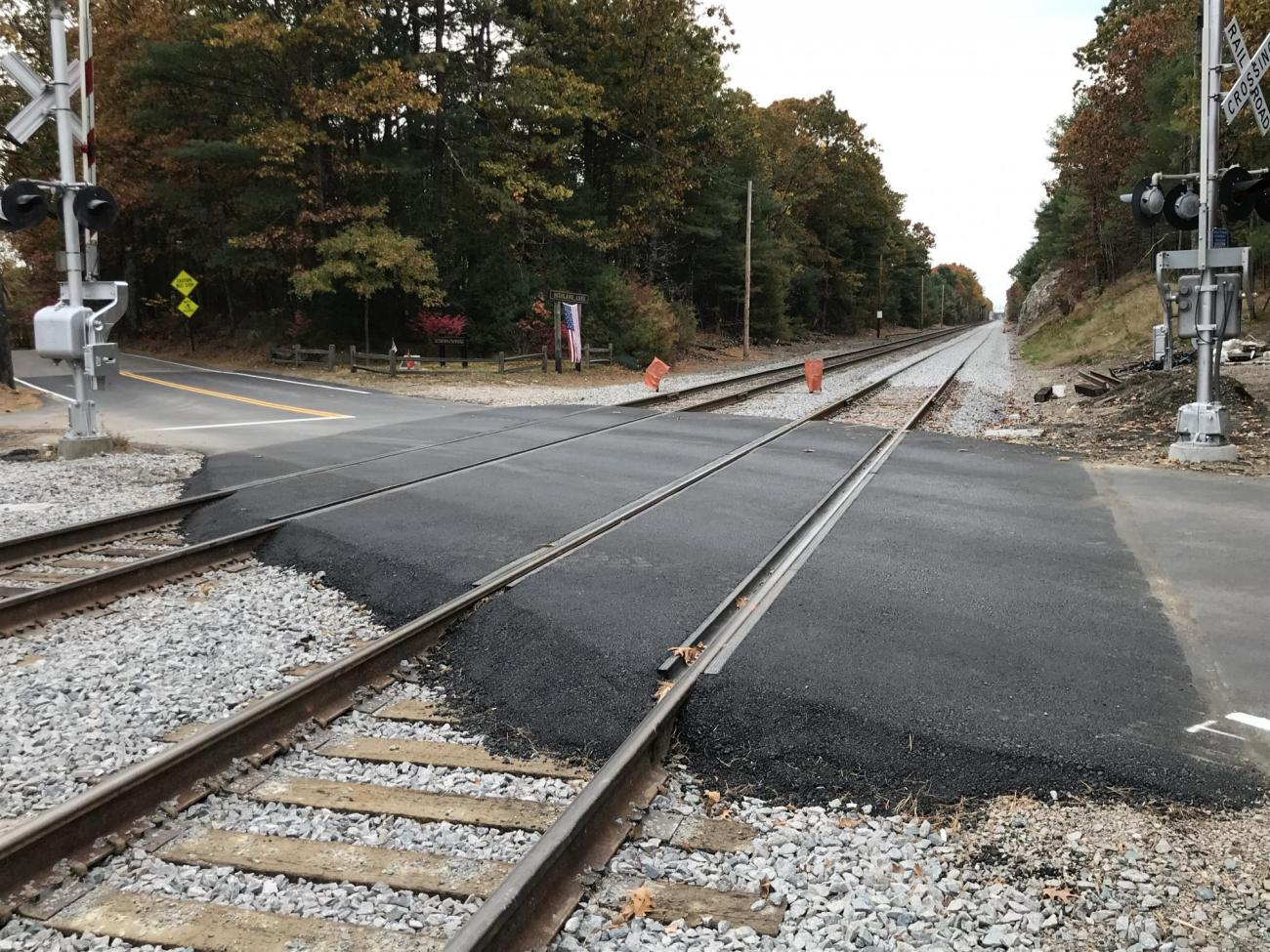 The two track crossing at Seekonk Street in Norfolk was completed in October 2019