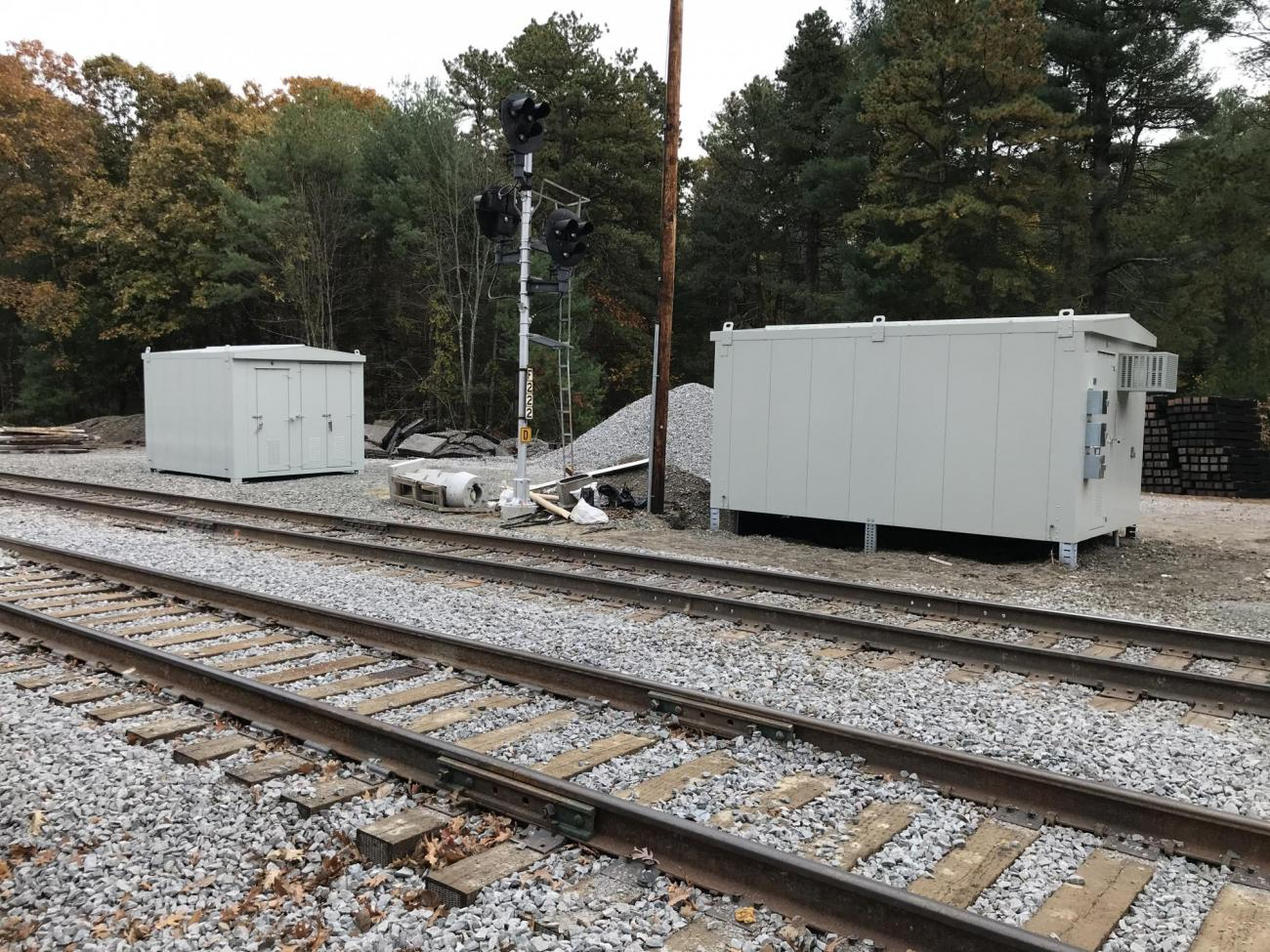 New signal houses were delivered before integrating the track into the system (October 2019)