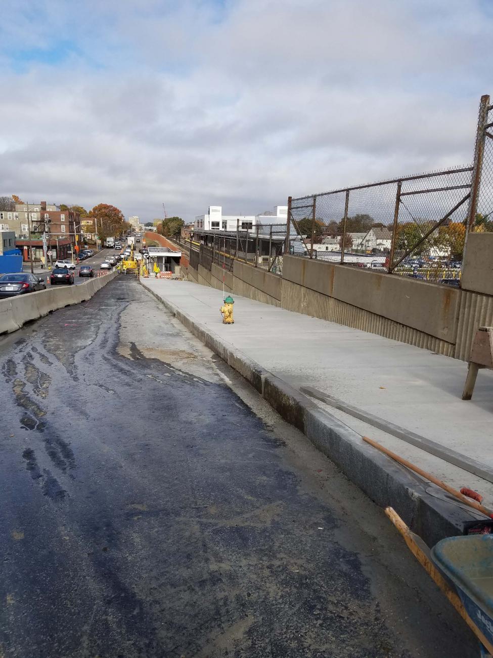 Installation of sidewalk on Newport Ave (October 2019)