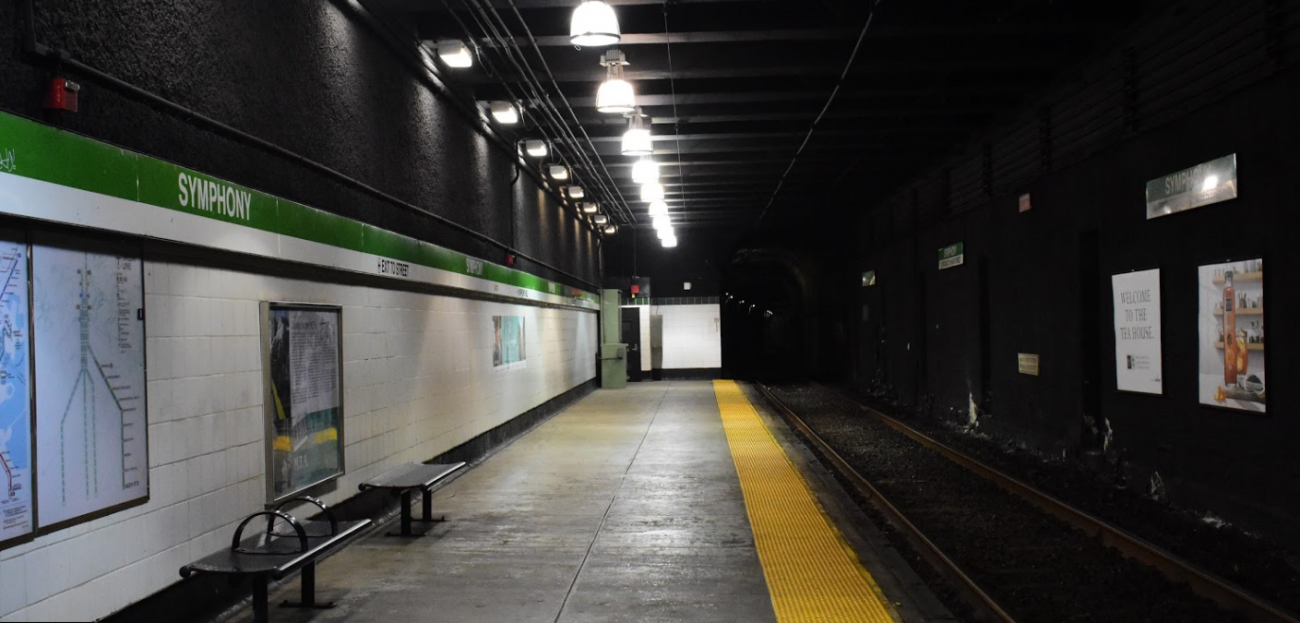 The existing platforms at Symphony, like the one pictured here, will be raised to allow for easier boarding