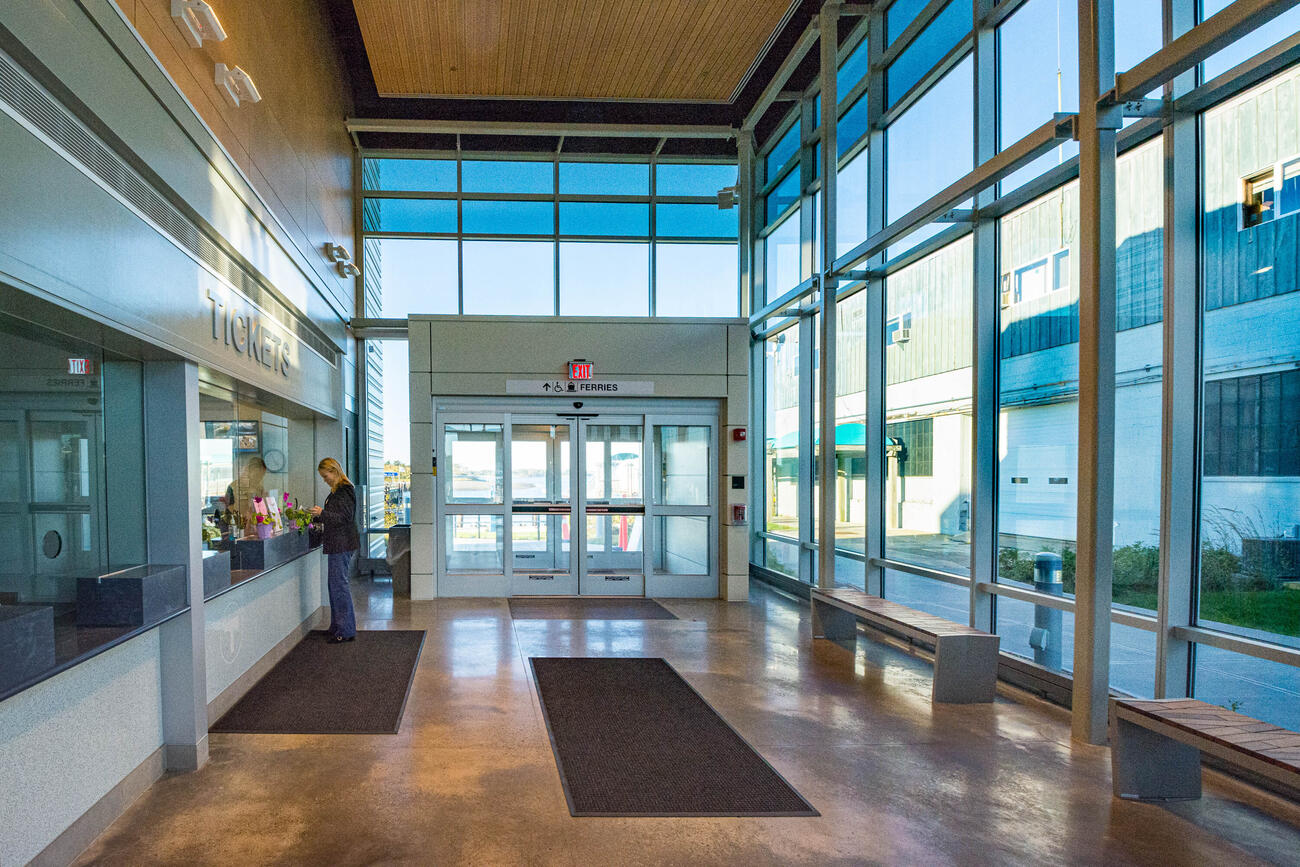 The Hingham Ferry Terminal is an example of sustainable design.