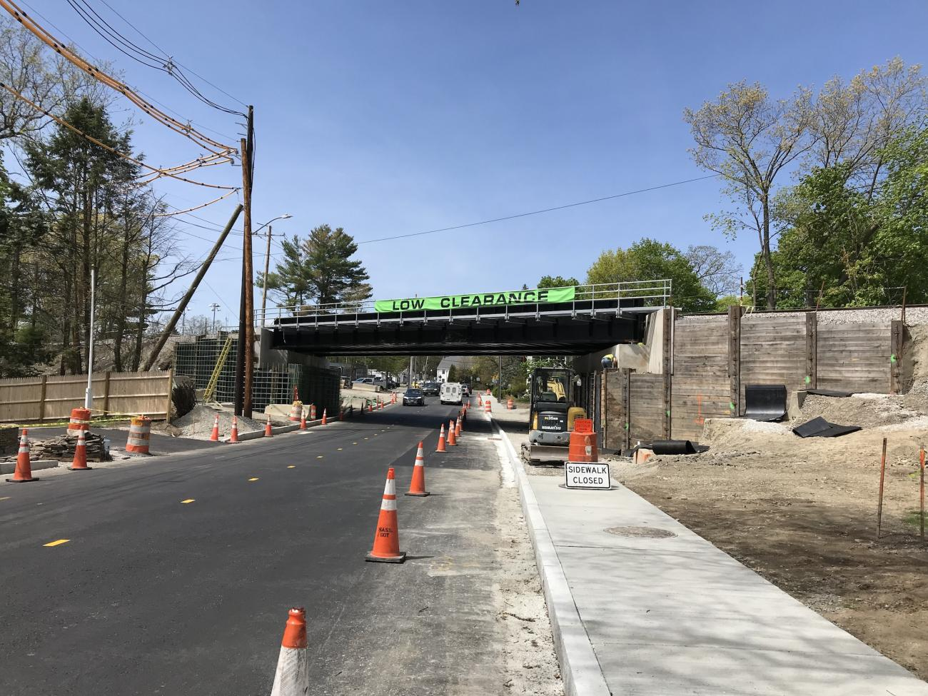 Construction in progress at East Street Bridge May 2019