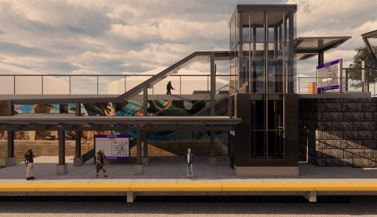 Rendering of the inbound platform