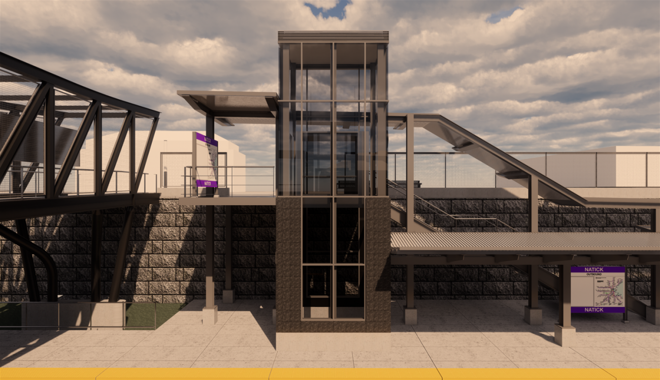 Rendering of the outbound platform