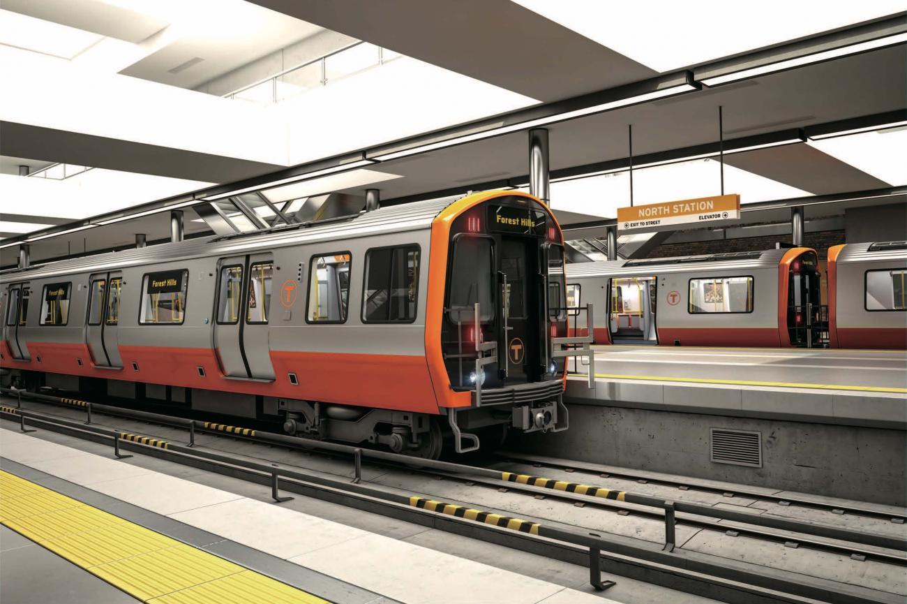 Rendering of a new Orange Line car