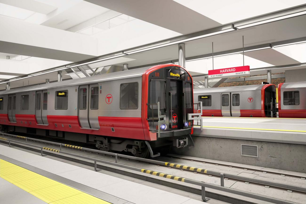 Rendering of a new Red Line car
