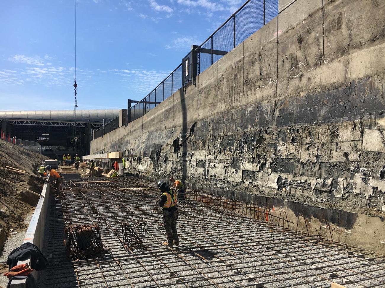 New platform under construction (March 2018)