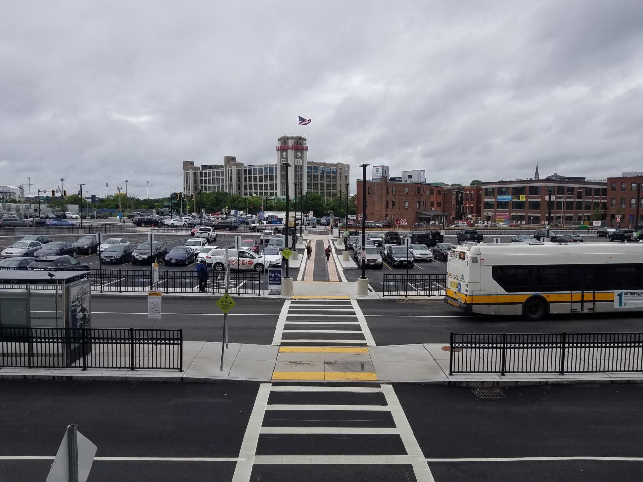 Sullivan Square finished busway