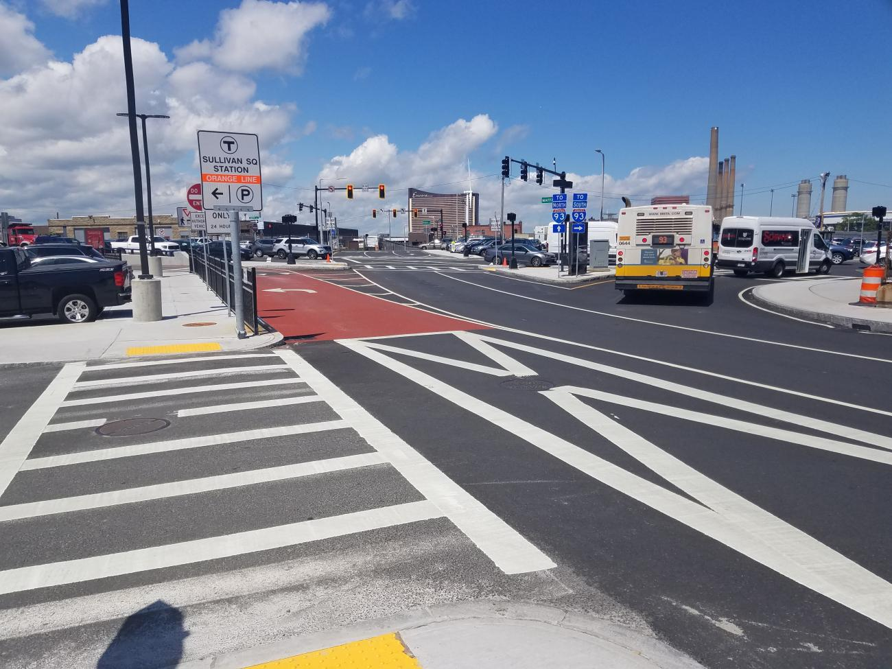 Sullivan Square parking lot and roadway work complete