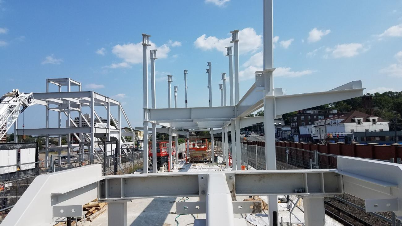 Structural steel at platform area (August 24, 2018)