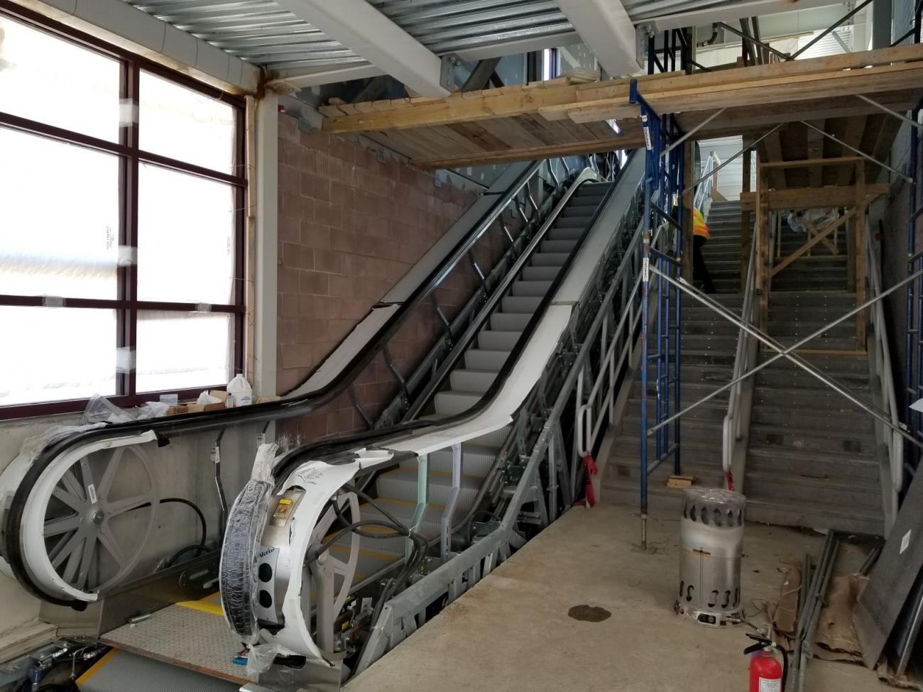 Interior escalator and staircase (April 25, 2019)