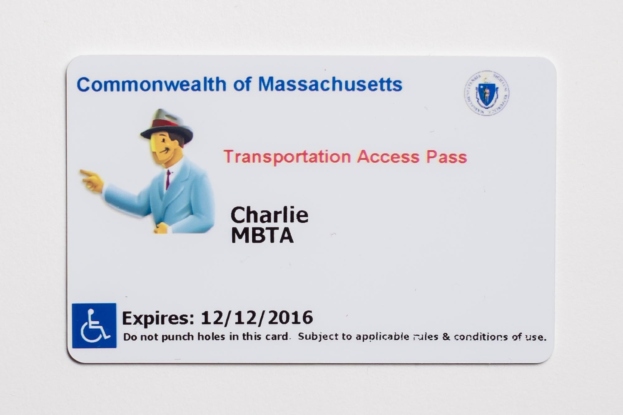 Transportation Access Pass CharlieCard