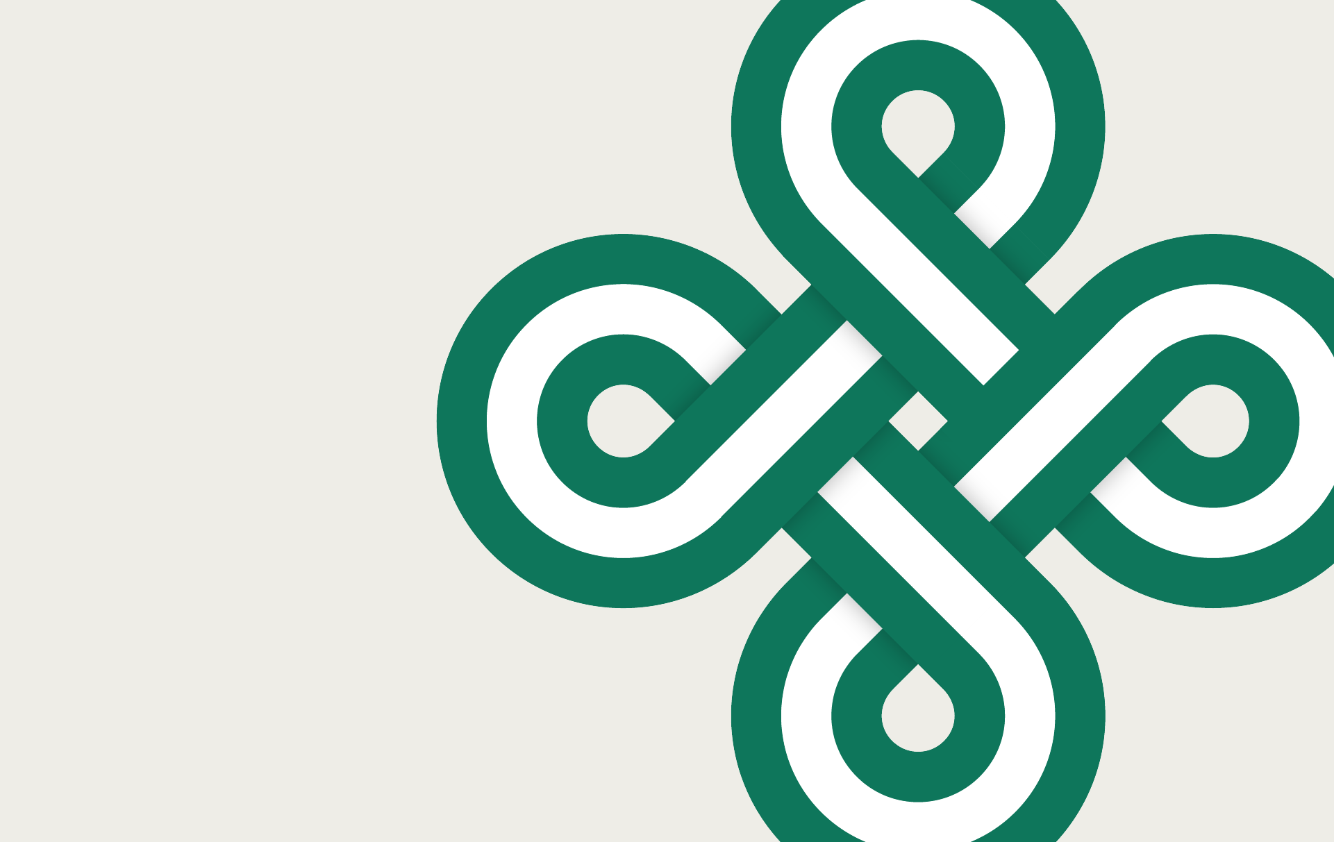 Clickable graphic for St. Patrick's Day parade guide. A swirl of green, resembling a clover.
