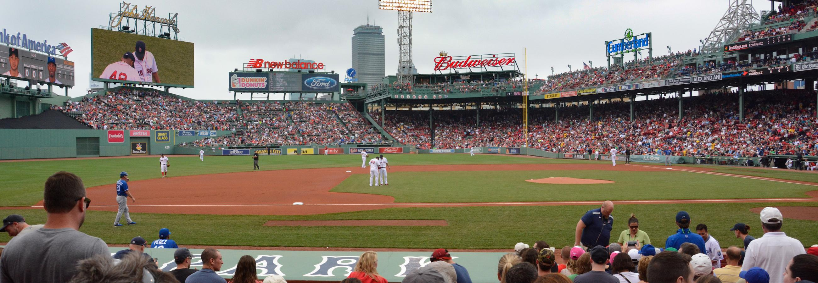Home red sox game at fenway park