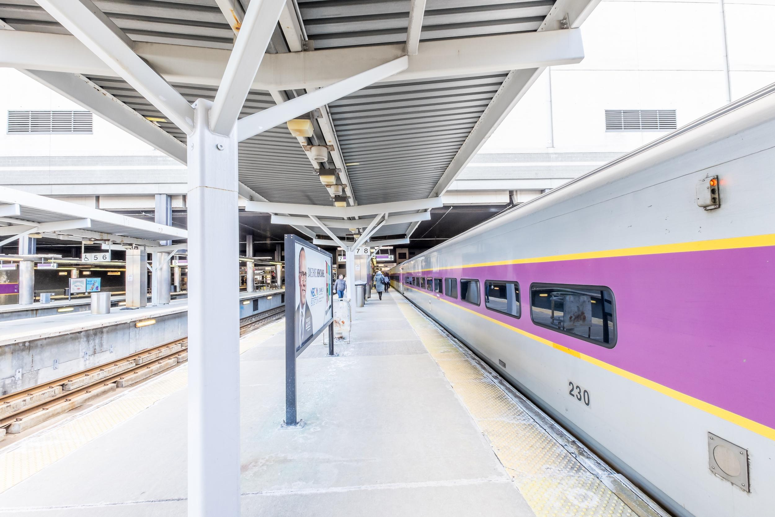 Commuter Rail at North Station platform