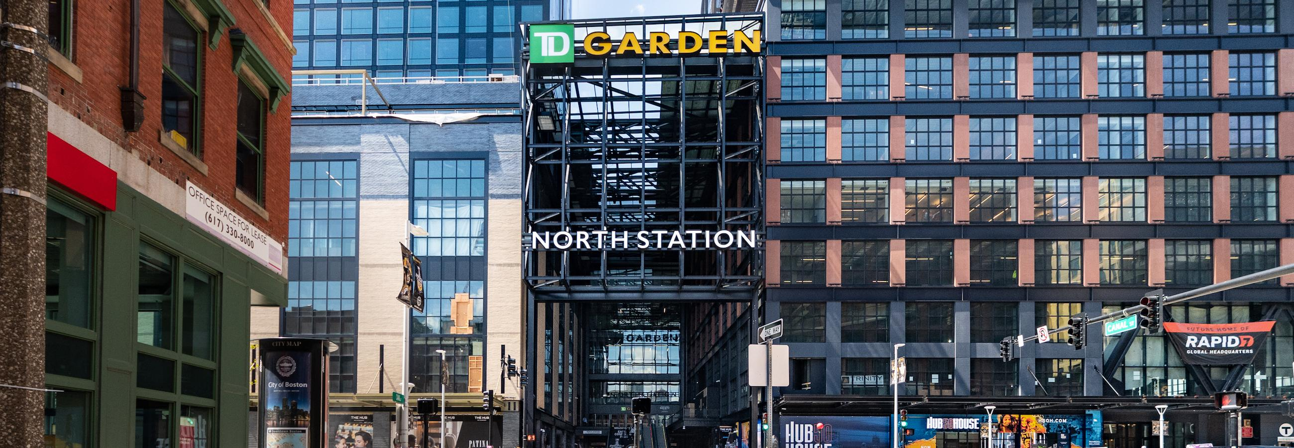 Causeway St entrance to TD Garden/North Station