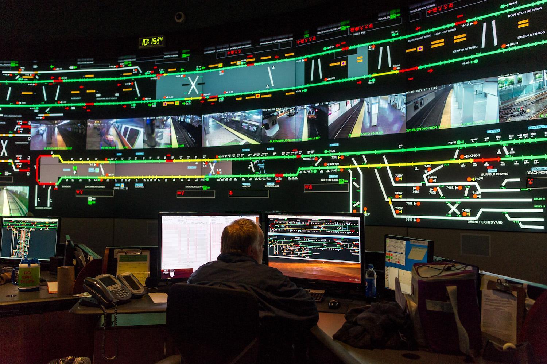 mbta dispatcher at operations control center