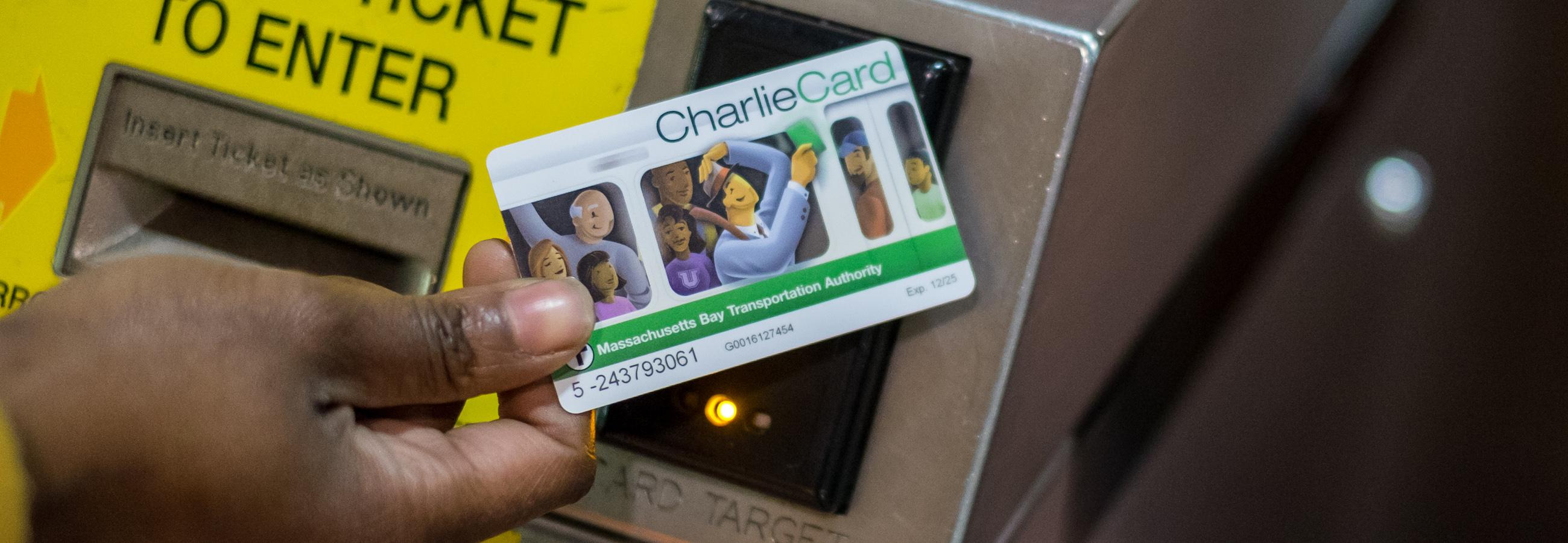 customer paying fare with charliecard