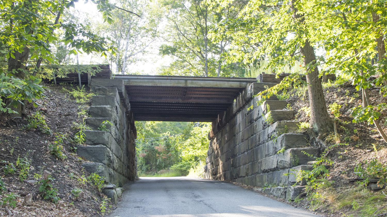 The existing bridge over Intervale Road is being replaced.