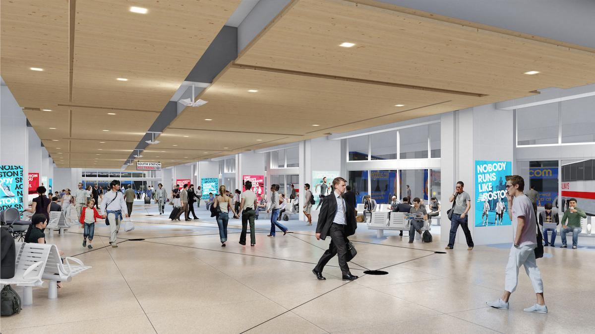 A rendering shows what the expanded bus terminal will look like at South Station