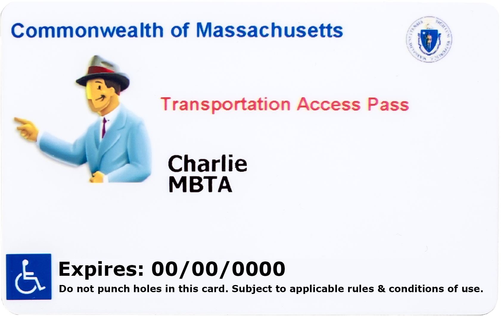 The revised Transportation Access Card as of July 2020