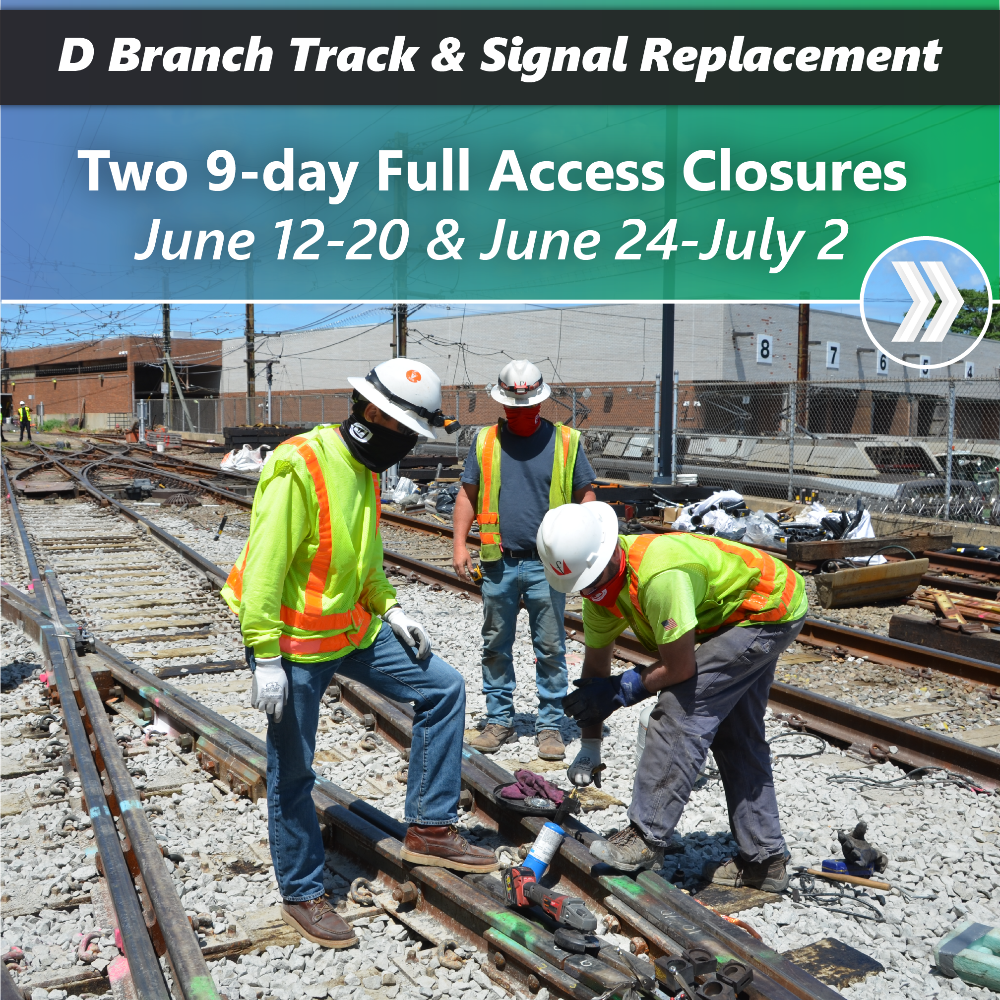 Two 9-day Full Access Closures will take place from June 12-20 and June 24-July 2