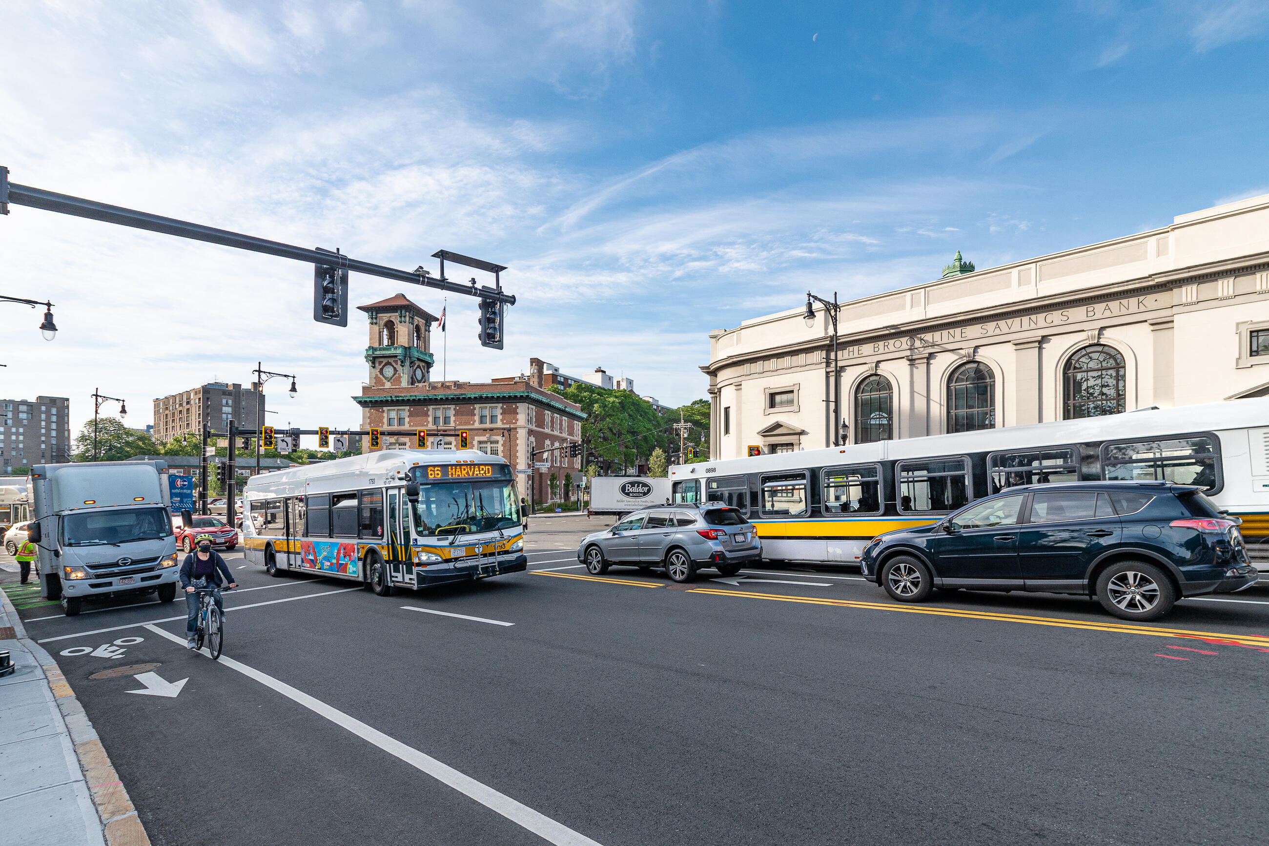 Bus Route 66 has been the highest ridership route in recent weeks. Improvements in the Gateway East project area in Brookline aim to improve reliability for Bus Routes 66, 65, 60 riders.