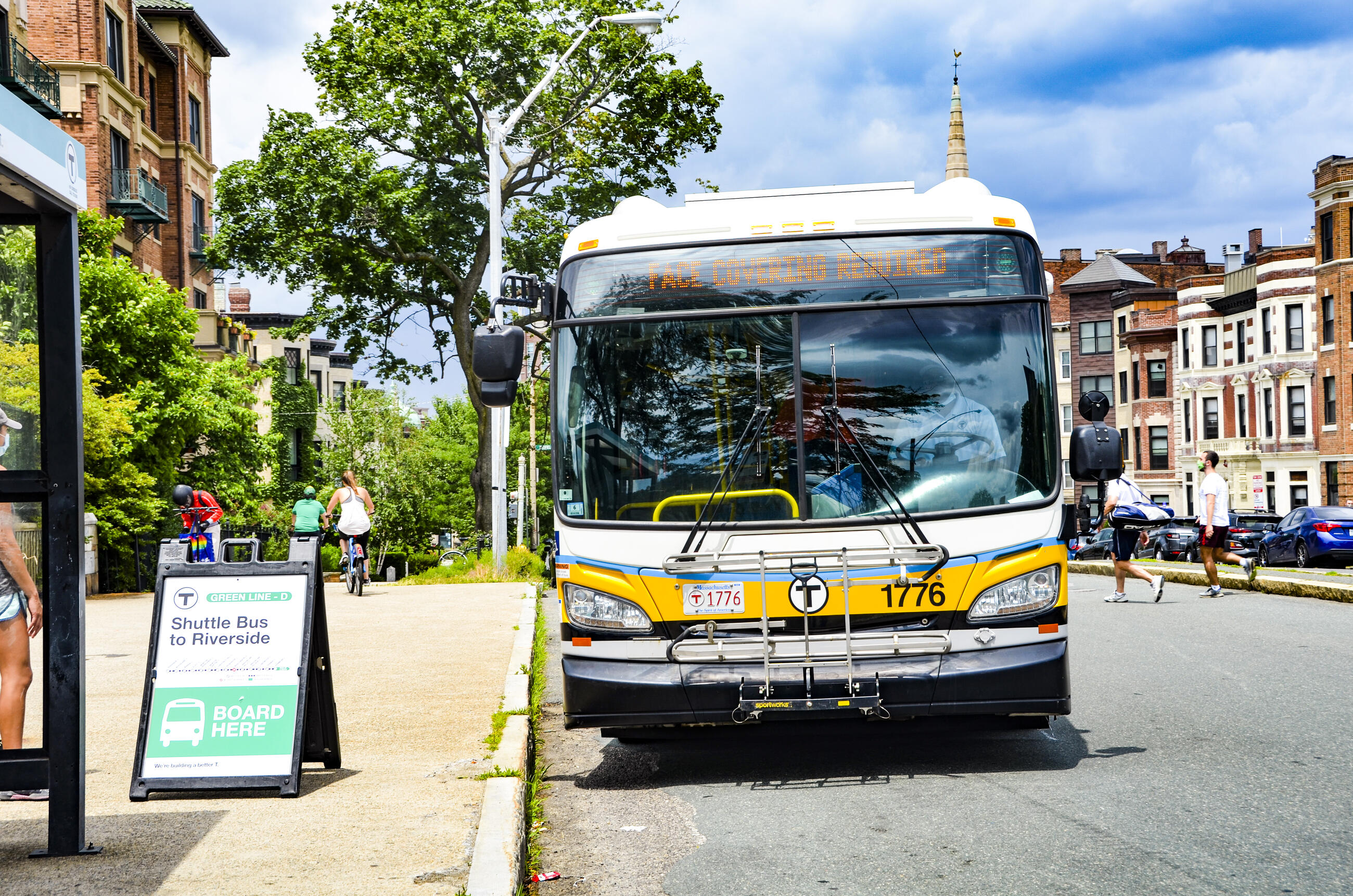 Express bus shuttles will operate from Riverside to Copley during rush hour and during Red Sox games at Fenway Park throughout the two phases of the full access closure from June 12 to June 20 and from June 24 to July 2.