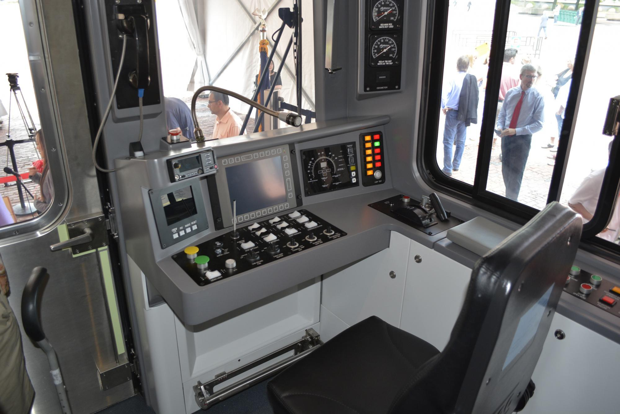Driver section of the Red Line mock-up car.