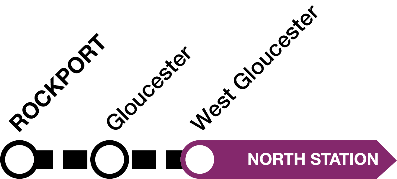Bus shuttles replace train service between Rockport, Gloucester, and West Gloucester stations